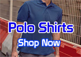 Branded polo shirts complete with your logo.