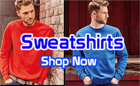 Sweatshirts available to be branded with your logo.