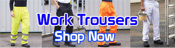 Work trousers & safetywear available to order online.