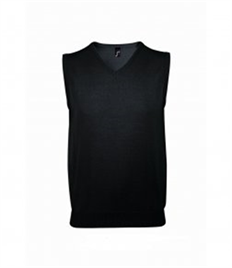 SOL'S Gentlemen Sleeveless Cotton Acrylic V Neck Sweater
