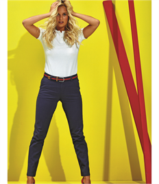 ASQUITH AND FOX LADIES CLASSIC FIT CHINO