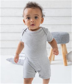 BabyBugz Baby Short Sleeve Striped Bodysuit