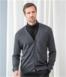 Henbury Lightweight Cotton Acrylic V Neck Cardigan