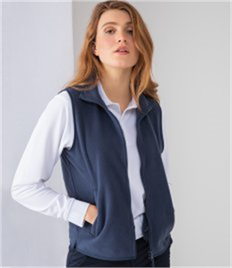 Henbury Ladies Sleeveless Micro Fleece Jacket