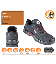 Briggs Footwear ASIO Black S3 Composite Shoe