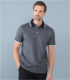 Henbury Two Tone Tipped Piqué Polo Shirt