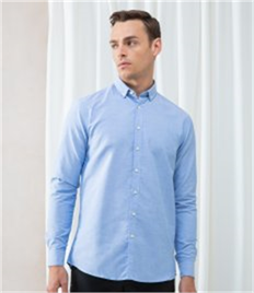 Henbury Modern Long Sleeve Regular Fit Oxford Shirt