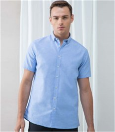 Henbury Modern Short Sleeve Regular Fit Oxford Shirt