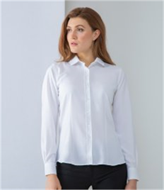 Henbury Ladies Long Sleeve Wicking Shirt