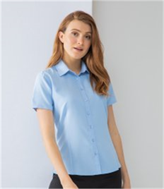 Henbury Ladies Short Sleeve Wicking Shirt
