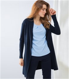 Henbury Ladies Longline Open Cardigan
