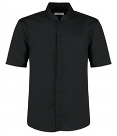 Bargear® Short Sleeve Tailored Mandarin Collar Shirt