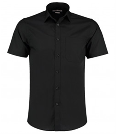 Kustom Kit Short Sleeve Tailored Poplin Shirt