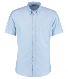 Kustom Kit Short Sleeve Slim Fit Oxford Shirt