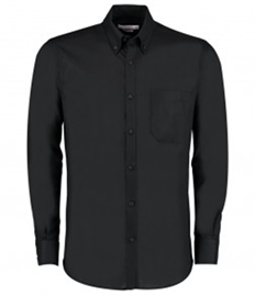 Kustom Kit Long Sleeve Slim Fit Workwear Oxford Shirt