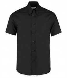Kustom Kit Premium Short Sleeve Tailored Oxford Shirt