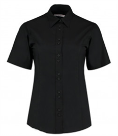 Kustom Kit Ladies Short Sleeve Tailored City Business Shirt