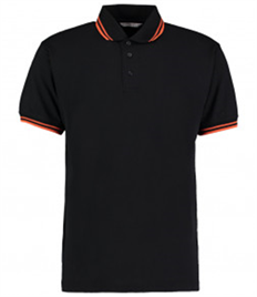 Kustom Kit Contrast Tipped Poly/Cotton Piqué Polo Shirt