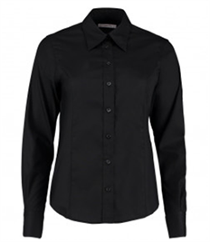 Kustom Kit Ladies Premium Long Sleeve Tailored Oxford Shirt