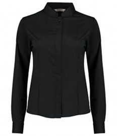 Bargear Ladies Long Sleeve Tailored Mandarin Collar Shirt