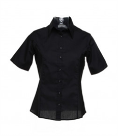 Kustom Kit Ladies Short Sleeve Tailored Business Shirt