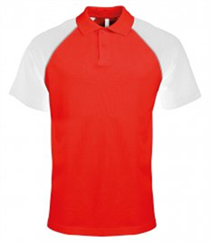 Kariban Baseball Cotton Piqué Polo Shirt