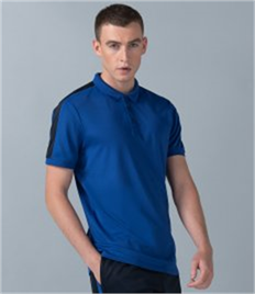 Finden and Hales Unisex Contrast Panel Piqué Polo Shirt