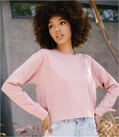 Next Level Ladies Long Sleeve Cropped T-Shirt