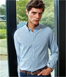 Premier Long Sleeve Striped Oxford Shirt