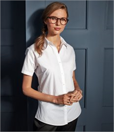 Premier Ladies Supreme Short Sleeve Poplin Shirt