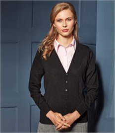 Premier Ladies Essential Acrylic V Neck Cardigan