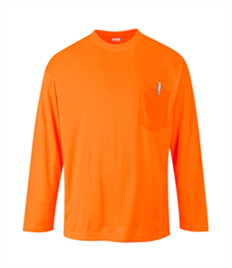 Portwest Long Sleeve Pocket T-Shirt