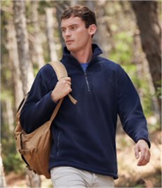 Fruit of the Loom Zip Neck Fleece