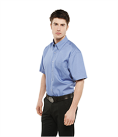 Uneek Mens Pinpoint Oxford Half Sleeve Shirt