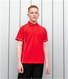 Finden & Hales Kids Performance Piped Polo Shirt