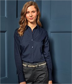 Premier Ladies Long Sleeve Poplin Shirt