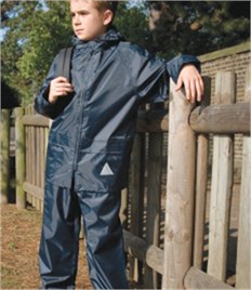 Result Kids Waterproof Jacket/Trouser Suit in Carry Bag