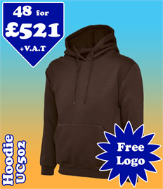 48- UC502 Hoodie XS-2XL with YOUR LOGO £521