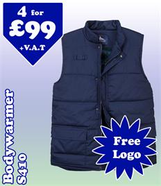 4 - S410 Bodywarmer @ £99 S-3XL