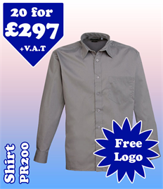 20 - PR200 Shirt 14.5-19 with YOUR LOGO £297