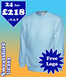 24 - UC203 Sweatshirt XS-2XL with YOUR LOGO £218