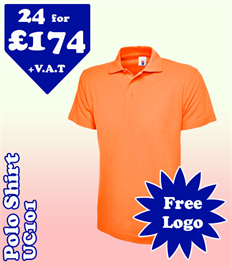 24 - UC101 Polo S-3XL with YOUR LOGO £174
