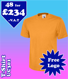 48 - UC301 T-Shirt XS-2XL with YOUR LOGO £234