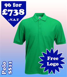 96 - SS11 Polo S-2XL with YOUR LOGO £738