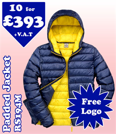 10 - RS194M Jacket XS-2XL with YOUR LOGO £393