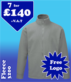 7 - 3200 Fleeces with YOUR LOGO £140 + VAT