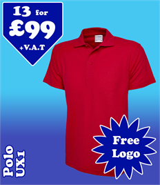 13 - UX1 Polo @ £99 XS-2XL