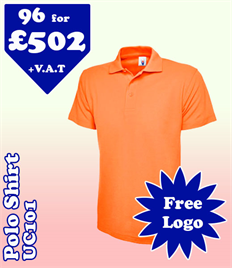 96- UC101 Polo S-3XL with YOUR LOGO £502