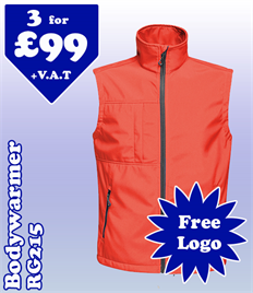 3- RG215 Soft Shell Bodywarmer @ £99 XS-5XL
