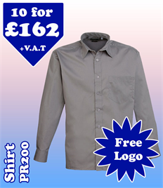 10 - PR200 Shirt 14.5-19 with YOUR LOGO £162
